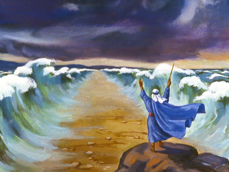 exodus moses and the red sea As the israelites arrived at the edge of the red sea, pharaoh and his army caught up with them  in exodus 15:1-21 we read of moses and the people celebrating in .