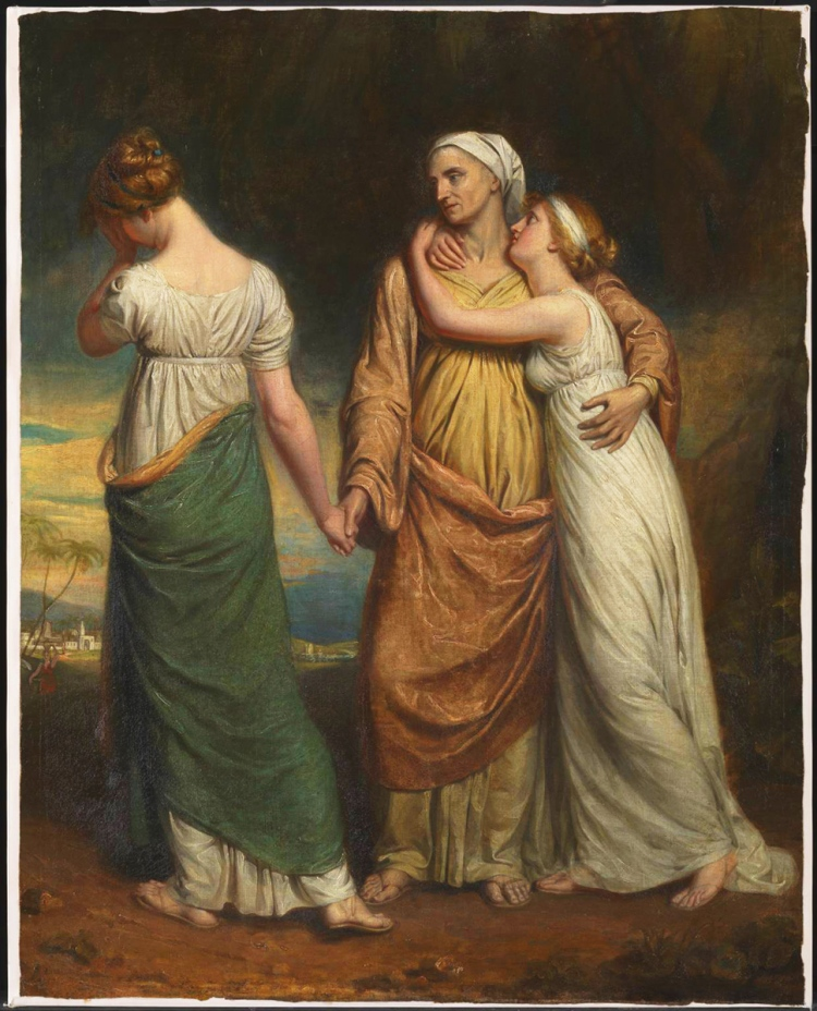Naomi and her Daughters exhibited 1804 by George Dawe 1781-1829
